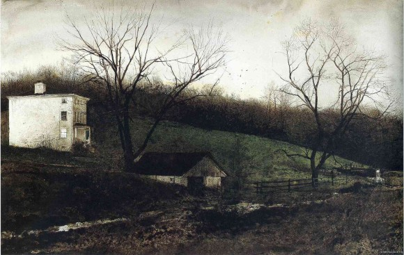 Evening at Kuerners, by Andrew Wyeth, 1972