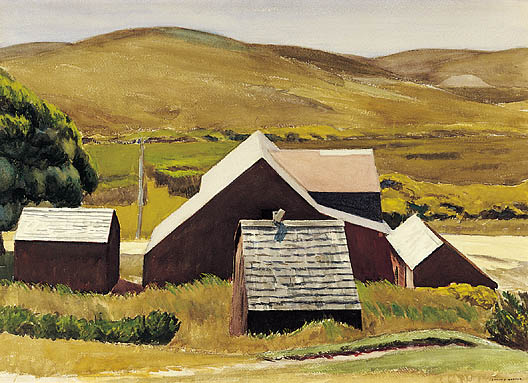 Roofs of the Cobb Barn, Edward Hopper, 1931